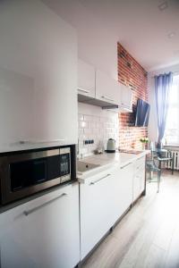 Kuchnia lub aneks kuchenny w obiekcie Apartament LOFT Glamour EC1