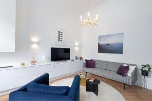 Posezení v ubytování Erkel Boutique Apartment–Chic flat by Market Hall