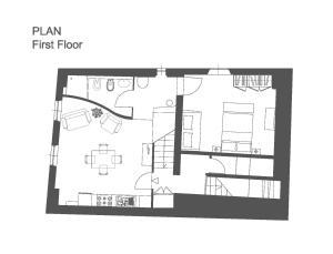 A planta de Deluxe Romantic Apartment San Gimignano