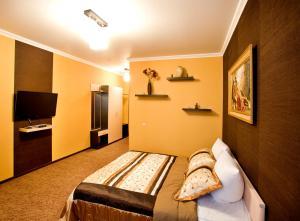 Кровать или кровати в номере Отель Red House