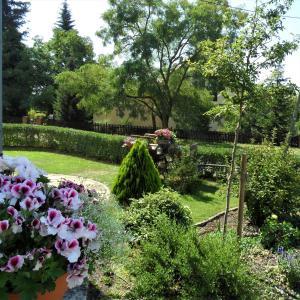 Ein Garten an der Unterkunft HERRENHAUS KUNZWERDA bei TORGAU - ApartHotel, BoardingHouse, WOHNEN auf ZEIT