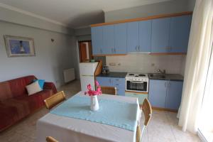 A kitchen or kitchenette at Tosis Apartments