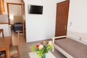 A television and/or entertainment center at Sunny Suites