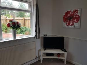 A television and/or entertainment centre at Vetrelax Ipswich House