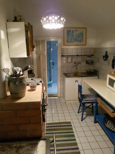 A kitchen or kitchenette at Leányvirág Vendégház