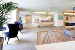 The lobby or reception area at HOTEL MYSTAYS Hakodate Goryokaku