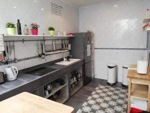 Cuisine ou kitchenette dans l'établissement Hostel Trotamundos