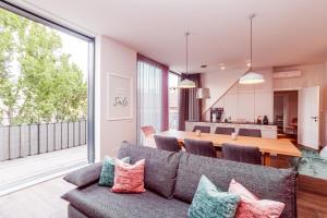 Coin salon dans l'établissement Urban Lodge - Apartments Vienna