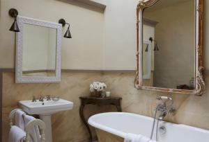 A bathroom at La Bastide de Marie