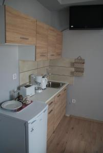 A kitchen or kitchenette at The Historical Center Studios