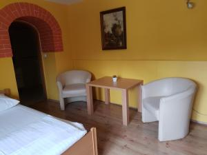 A seating area at Prenočišča Kralj