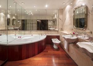 A bathroom at Chateau de Codignat - Relais & Châteaux