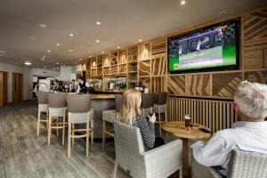 The lounge or bar area at Merton Hotel