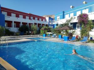 The swimming pool at or close to Efstathia Hotel