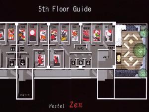 Denah lantai Hostel Zen