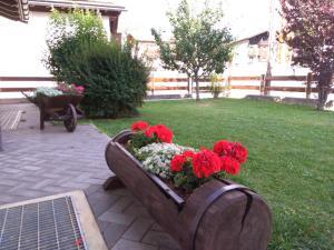 A garden outside Casa dello Sciatore