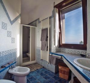 A bathroom at B&B Villa Patrizia