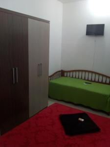 A seating area at Hostel Mota