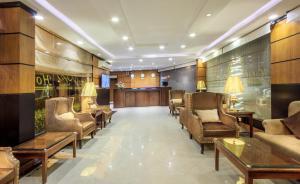 O saguão ou recepção de Al Muhaidb Al Hada Resort