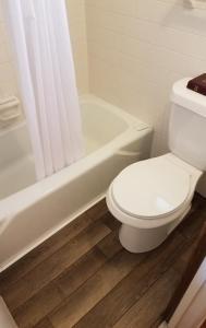 A bathroom at Homestead Motel
