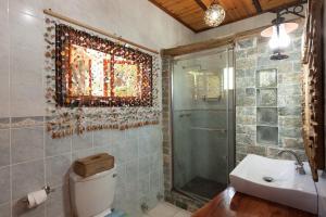 A bathroom at Anse Severe Beach Villas