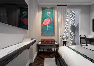 Ein Bett oder Betten in einem Zimmer der Unterkunft Hanoi Graceful Hotel