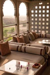 A seating area at RAAS Devigarh