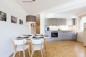 Küche/Küchenzeile in der Unterkunft Ferienwohnung Busch