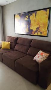 A seating area at Casa Temporada em Bonito