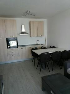 A kitchen or kitchenette at Laguna Palace Appartments