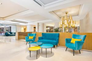 The lobby or reception area at Gran Hotel Monterrey & Spa