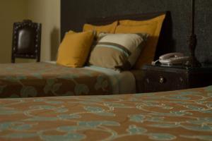 Cama o camas de una habitación en La Gloria de Calvillo