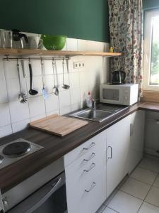 Küche/Küchenzeile in der Unterkunft Apartmenthaus Sonnen