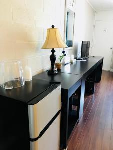 A kitchen or kitchenette at Manitou Motor Inn