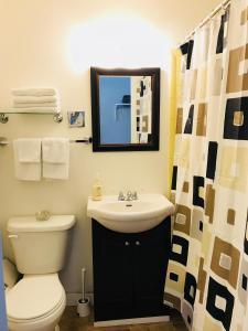 A bathroom at Manitou Motor Inn