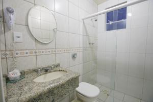 A bathroom at Hotéis Pamplona