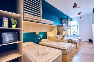 Un ou plusieurs lits superposés dans un hébergement de l'établissement Draggo House
