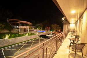 A balcony or terrace at Laguna Hotel