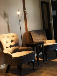 A seating area at Finnsnes Hotel