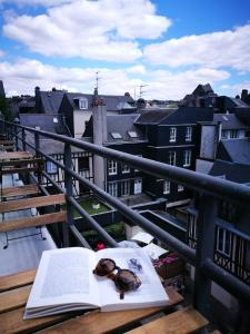 A balcony or terrace at Best Western Plus Hotel Litteraire Gustave Flaubert