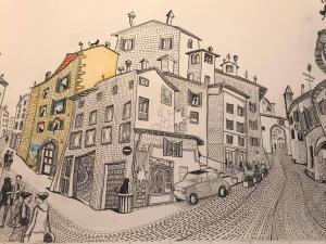 The floor plan of Le Camere di Casa Cassandra