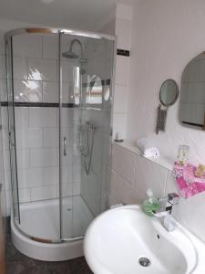 Vonios kambarys apgyvendinimo įstaigoje Boardinghouse Castell