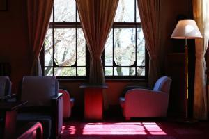 A seating area at Nara Hotel