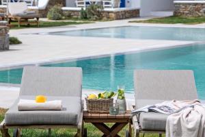 Piscine de l'établissement Villa Del Sol Mykonos ou située à proximité