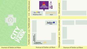 The floor plan of Hostel City Center