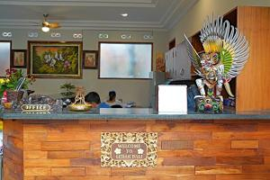 The lobby or reception area at Lebak Bali Residence