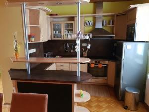 A kitchen or kitchenette at Apartman Aneta