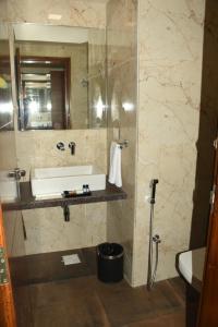 A bathroom at Lake Vinora