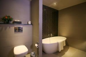 A bathroom at The Alex