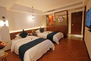 Cama o camas de una habitación en South Mountain Boutique Hotel